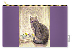 Carry-all Pouch featuring the painting April Showers by Angela Davies