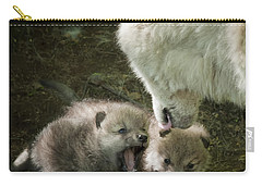 Arctic Wolf Pups Carry-all Pouch