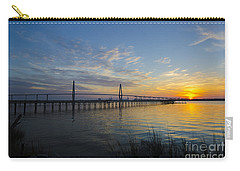 Carry-all Pouch featuring the photograph Sunset Over The Charleston Waters by Dale Powell