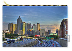 Atlanta Sunset Reflections Carry-all Pouch by Reid Callaway