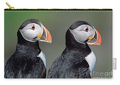 Atlantic Puffins In Breeding Colors Carry-all Pouch by Yva Momatiuk and John Eastcott