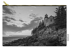 Bass Harbor Head Light Sunset  Carry-all Pouch by Michael Ver Sprill