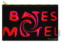 Carry-all Pouch featuring the photograph Bates Motel In Blood And Twisted by Kelly Awad