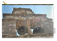 Carry-all Pouch featuring the photograph Bell Tower 1584 by George Katechis