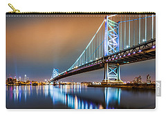 Ben Franklin Bridge And Philadelphia Skyline By Night Carry-all Pouch
