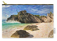 Bermuda Beach Carry-all Pouch by Verena Matthew