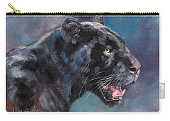 Black Panther Carry-all Pouch by David Stribbling