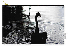 Carry-all Pouch featuring the photograph Black Swan by Roselynne Broussard