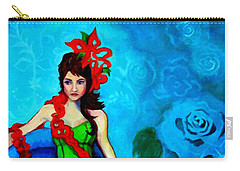 Blue Compliments Carry-all Pouch