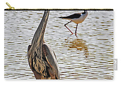 Blue Heron And Stilt Carry-all Pouch
