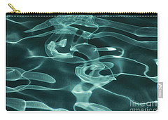 Blue Swirl Two Carry-all Pouch by Chris Thomas