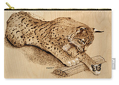 Bobcat And Friend Carry-all Pouch by Ron Haist
