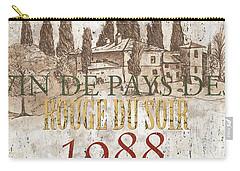 Bordeaux Blanc Label 1 Carry-all Pouch