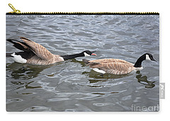 Bossy Canada Goose Carry-all Pouch by Susan Wiedmann