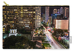 Brickell Ave Downtown Miami  Carry-all Pouch by Michael Moriarty