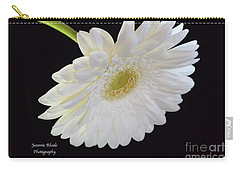 Carry-all Pouch featuring the photograph Bright White Gerber Daisy # 2 by Jeannie Rhode