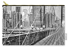 Brooklyn Bridge Manhattan New York City Carry-all Pouch by Panoramic Images
