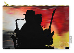 Bruce Springsteen Clarence Clemons Carry-all Pouch by Marvin Blaine