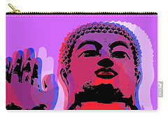 Carry-all Pouch featuring the digital art Buddha Pop Art - Warhol Style by Jean luc Comperat