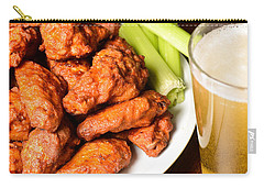 Buffalo Wings With Celery Sticks And Beer Carry-all Pouch