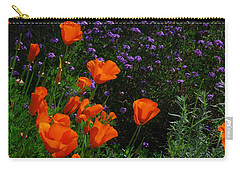 Carry-all Pouch featuring the photograph California Poppies by Lynn Bauer