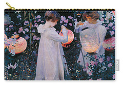 Carnation Lily Lily Rose Carry-all Pouch by John Singer Sargent