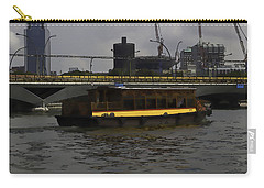 Cartoon - Colorful River Cruise Boat In Singapore Carry-all Pouch by Ashish Agarwal