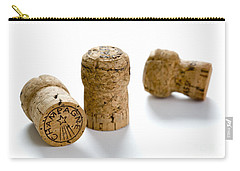 Carry-all Pouch featuring the photograph Champagne Corks by Lee Avison