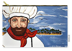 Carry-all Pouch featuring the painting Chef From Israel by Nora Shepley