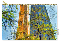Chicago Water And Hancock Towers Carry-all Pouch by Christopher Arndt