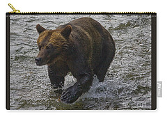 Carry-all Pouch featuring the photograph Cinnamon Grizzly by J L Woody Wooden