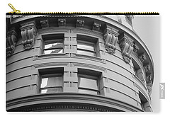 Circular Building Details San Francisco Bw Carry-all Pouch by Connie Fox