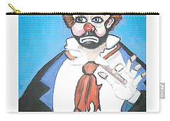 Carry-all Pouch featuring the painting Clown by Nora Shepley