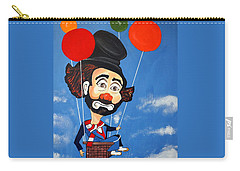 Carry-all Pouch featuring the painting Clown Up Up And Away by Nora Shepley