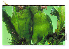 Cobalt-winged Parakeets Carry-all Pouch by Art Wolfe