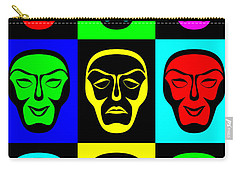Comedy And Tragedy Carry-all Pouch by Jane McIlroy