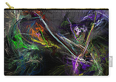 Carry-all Pouch featuring the digital art Conflict by David Lane