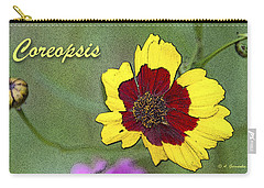 Coreopsis Flower And Buds Carry-all Pouch