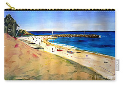 Carry-all Pouch featuring the painting Cottesloe Beach by Therese Alcorn