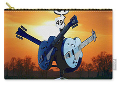 Crossroads Sunset  Blues Highway 61 Carry-all Pouch