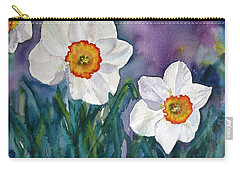 Carry-all Pouch featuring the painting Daffodil Dream by Anna Ruzsan