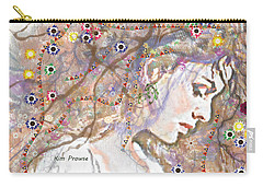 Carry-all Pouch featuring the digital art Daisy Chain by Kim Prowse