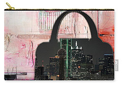 Dallas Texas Skyline In A Purse Carry-all Pouch