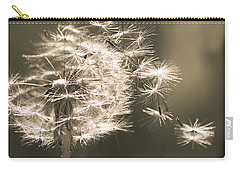 Carry-all Pouch featuring the photograph Dandelion by Yulia Kazansky