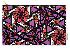 Carry-all Pouch featuring the digital art Digi-flora by Elizabeth McTaggart