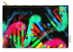 Carry-all Pouch featuring the digital art Dna Dreaming 7 by Russell Kightley