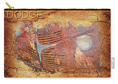 Carry-all Pouch featuring the photograph Dodge In Rust by Larry Bishop