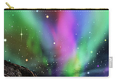 Carry-all Pouch featuring the digital art Dramatic Aurora by Atiketta Sangasaeng