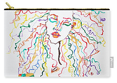 Carry-all Pouch featuring the painting Dreadlocks Piano Goddess by Stormm Bradshaw