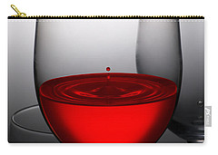 Drops Of Wine In Wine Glasses Carry-all Pouch